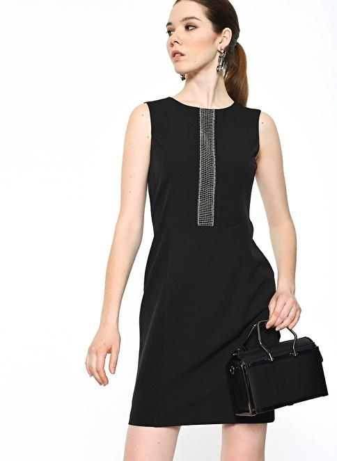 Agenda Zincir Detaylı Elbise Siyah